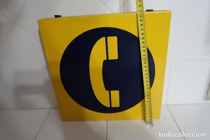 Teléfonos: Cartel metálico de señalización de Teléfono Público - Foto 4 - 112352603