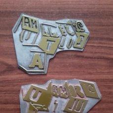 Antigüedades: CLICHÉ METÁLICO TIPOGRAFÍA (ANTIGUAS PLANCHAS DE IMPRENTA), AÑOS 80, 2 TINTAS, MEDIDAS: 10X8 CMS.. Lote 112445383