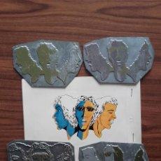 Antigüedades: CLICHÉ METÁLICO TIPOGRAFÍA (ANTIGUAS PLANCHAS DE IMPRENTA), AÑOS 80, 4 TINTAS, MEDIDAS: 11X8 CMS.. Lote 112456235