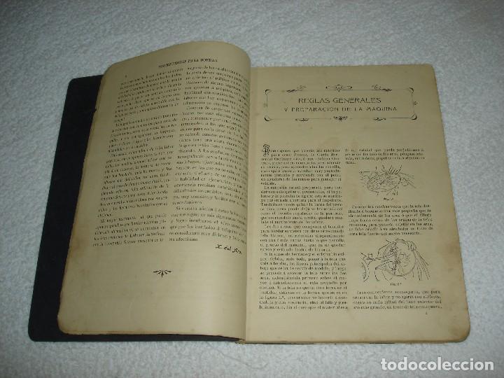 Antigüedades: INSTRUCCIONES PARA BORDAR CON LA MAQUINA SINGER PARA COSER - SRTA DEL ARO 1911 - Foto 3 - 112494015