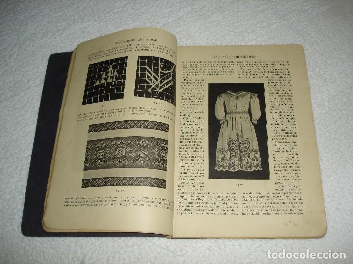 Antigüedades: INSTRUCCIONES PARA BORDAR CON LA MAQUINA SINGER PARA COSER - SRTA DEL ARO 1911 - Foto 4 - 112494015