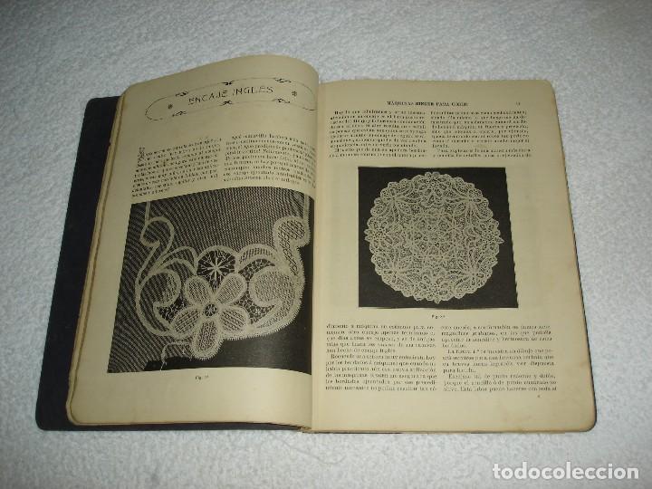 Antigüedades: INSTRUCCIONES PARA BORDAR CON LA MAQUINA SINGER PARA COSER - SRTA DEL ARO 1911 - Foto 5 - 112494015