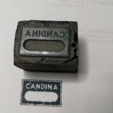Antigüedades: PUBLICIDAD. CANDINA. ANTIGUO TAMPÓN.SELLO DE IMPRENTA.CUÑO DE MADERA. CLICHÉ.. Lote 112507927