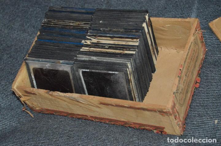 Antigüedades: VINTAGE - GRAN LOTE DE 67 CRISTALES CON FOTOGRAFÍA DE LINTERNA MÁGICA - AÑOS 60 - HAZ OFERTA - Foto 2 - 112508731