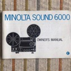Antigüedades: MANUAL MINOLTA SOUND 6000 MÁS ACCESORIOS. Lote 112554767