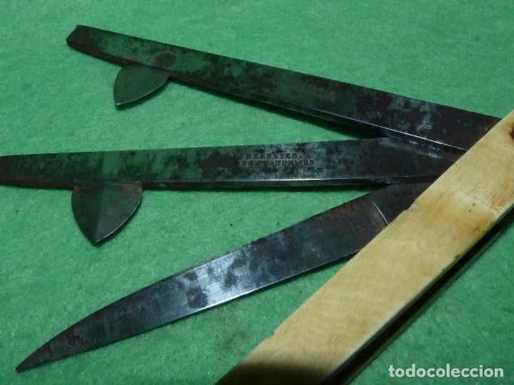 Antigüedades: DIFICIL NAVAJA AÑOS 30 LANCETA BARBERO ANTIGUO MEDICO VETERINARIO SANGRIAS ACERO CARBONO - Foto 2 - 112564879