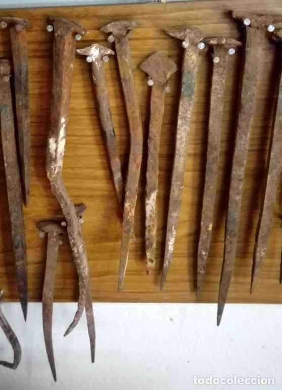 Antigüedades: COLECCIÓN DE 54 CLAVOS DE FORJA S. XVIII-XIX. CLAVO FORJA - Foto 3 - 112579215