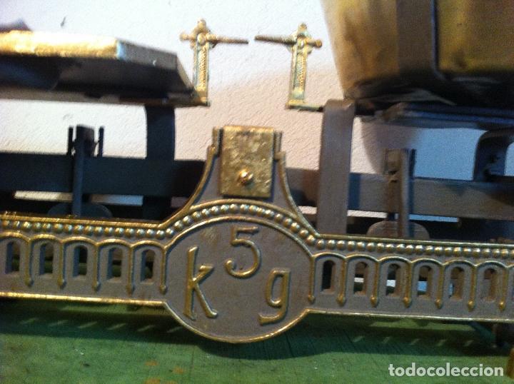 Antigüedades: BONITA BALANZA DE COMESTIBLES CON PLATO DE LATON DE PRINCIPIOS DEL XX (BF 06) - Foto 2 - 112637491