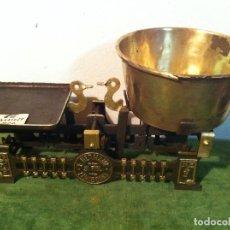 Antigüedades: BONITA BALANZA DE COMESTIBLES CON FUERZA DE 3 KG DE PRINCIPIOS DEL XX (BF 07). Lote 112649387