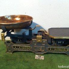 Antigüedades: HERMOSA BALANZA DE 10 KG CON PLATO BRONCE DE PRINCIPIOS DEL XX (BD 07). Lote 112655711