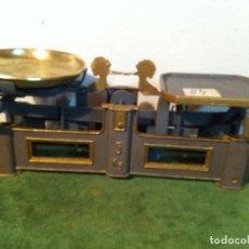 Antigüedades: BALANZA DE COMESTIBLES CON FUERZA 5 KG DE PRINCIPIOS DEL XX (BG 01). Lote 112670711