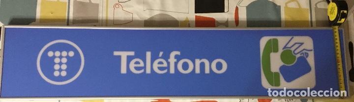 Teléfonos: Excelente y auténtico antiguo cartel cabina de teléfono público Telefónica, con marco de aluminio - Foto 5 - 112681467