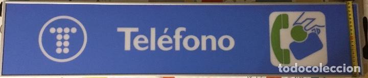 Teléfonos: Excelente y auténtico antiguo cartel cabina de teléfono público Telefónica, con marco de aluminio - Foto 6 - 112681467