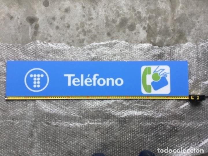 Teléfonos: Excelente y auténtico antiguo cartel cabina de teléfono público Telefónica, con marco de aluminio - Foto 7 - 112681467