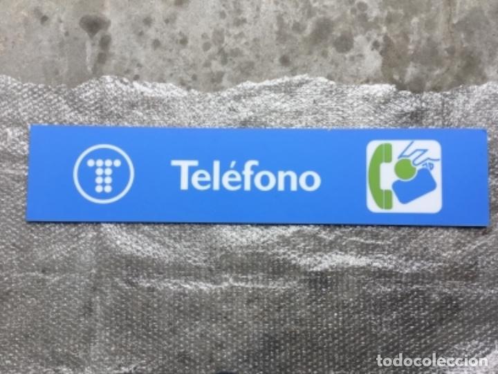 Teléfonos: Excelente y auténtico antiguo cartel cabina de teléfono público Telefónica, con marco de aluminio - Foto 8 - 112681467