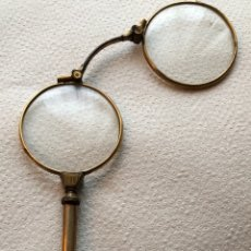 Antigüedades: ANTIGUOS IMPERTINENTES PLEGABLES CHAPADOS EN ORO. Lote 112688358