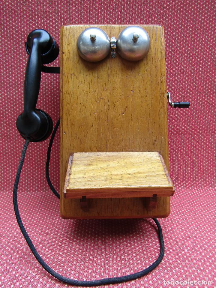 Teléfonos: ANTIGUO TELEFONO DE PARED DE GRAN TAMAÑO DE ORIGEN INGLÉS, MEDIADOS DEL SIGLO XX. - Foto 2 - 112719871
