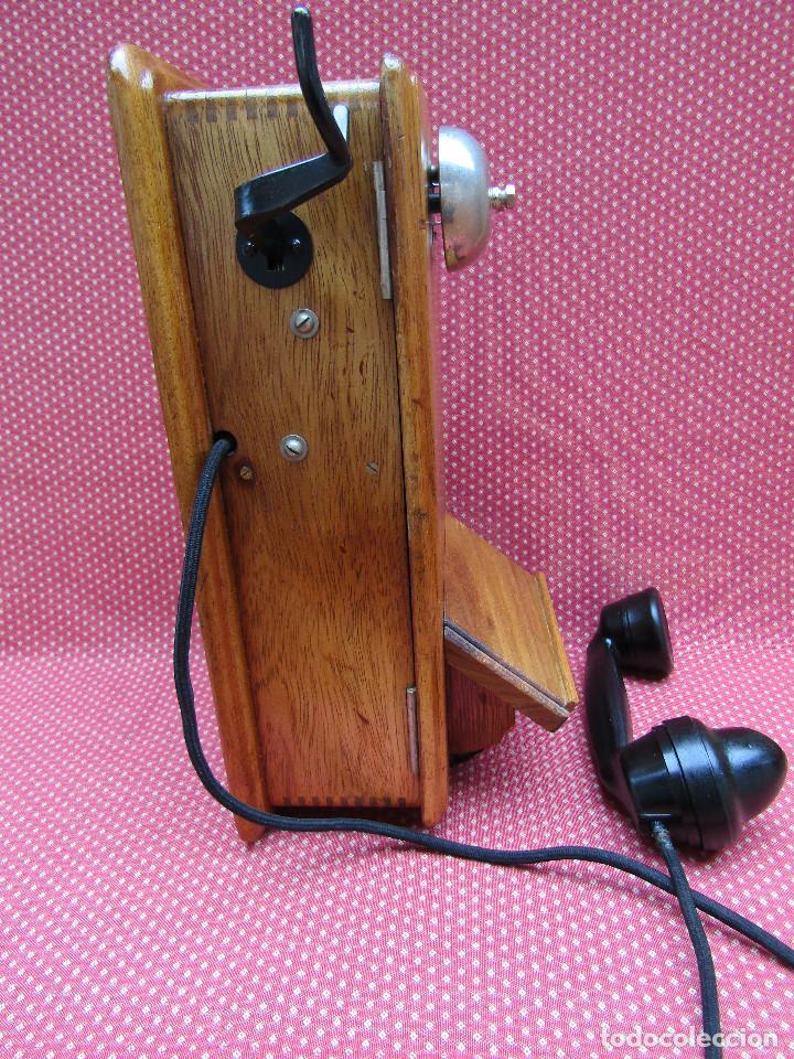 Teléfonos: ANTIGUO TELEFONO DE PARED DE GRAN TAMAÑO DE ORIGEN INGLÉS, MEDIADOS DEL SIGLO XX. - Foto 3 - 112719871