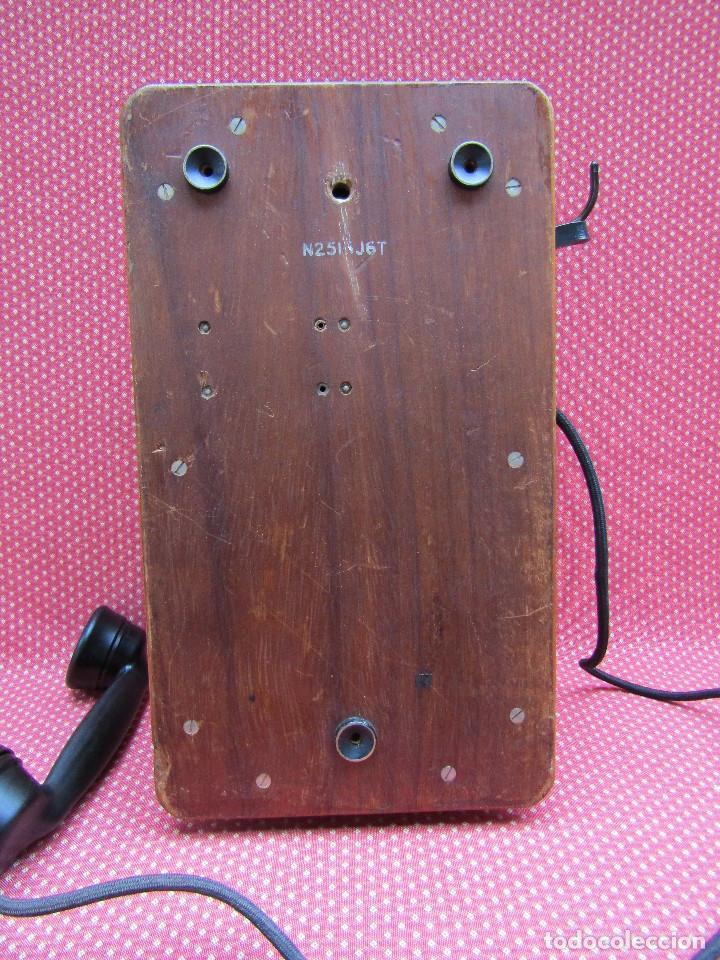 Teléfonos: ANTIGUO TELEFONO DE PARED DE GRAN TAMAÑO DE ORIGEN INGLÉS, MEDIADOS DEL SIGLO XX. - Foto 4 - 112719871