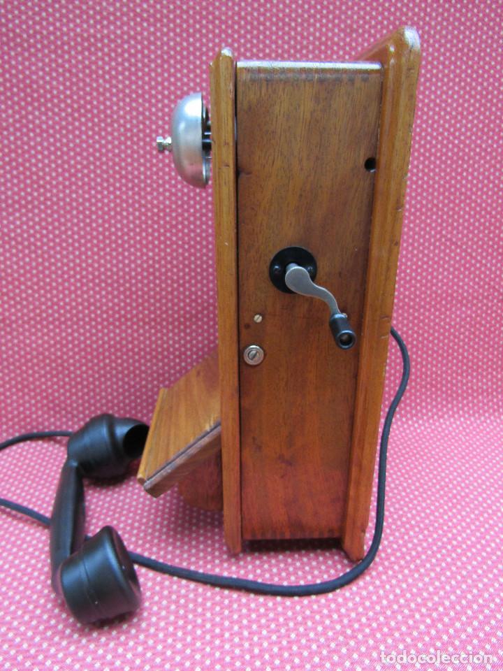 Teléfonos: ANTIGUO TELEFONO DE PARED DE GRAN TAMAÑO DE ORIGEN INGLÉS, MEDIADOS DEL SIGLO XX. - Foto 5 - 112719871