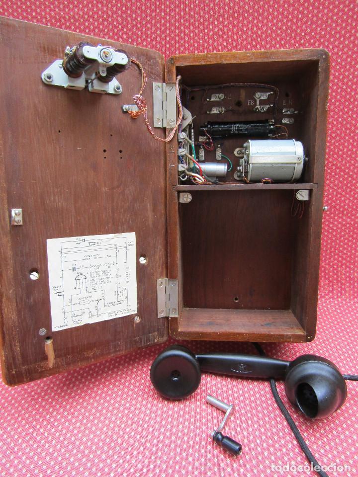 Teléfonos: ANTIGUO TELEFONO DE PARED DE GRAN TAMAÑO DE ORIGEN INGLÉS, MEDIADOS DEL SIGLO XX. - Foto 6 - 112719871
