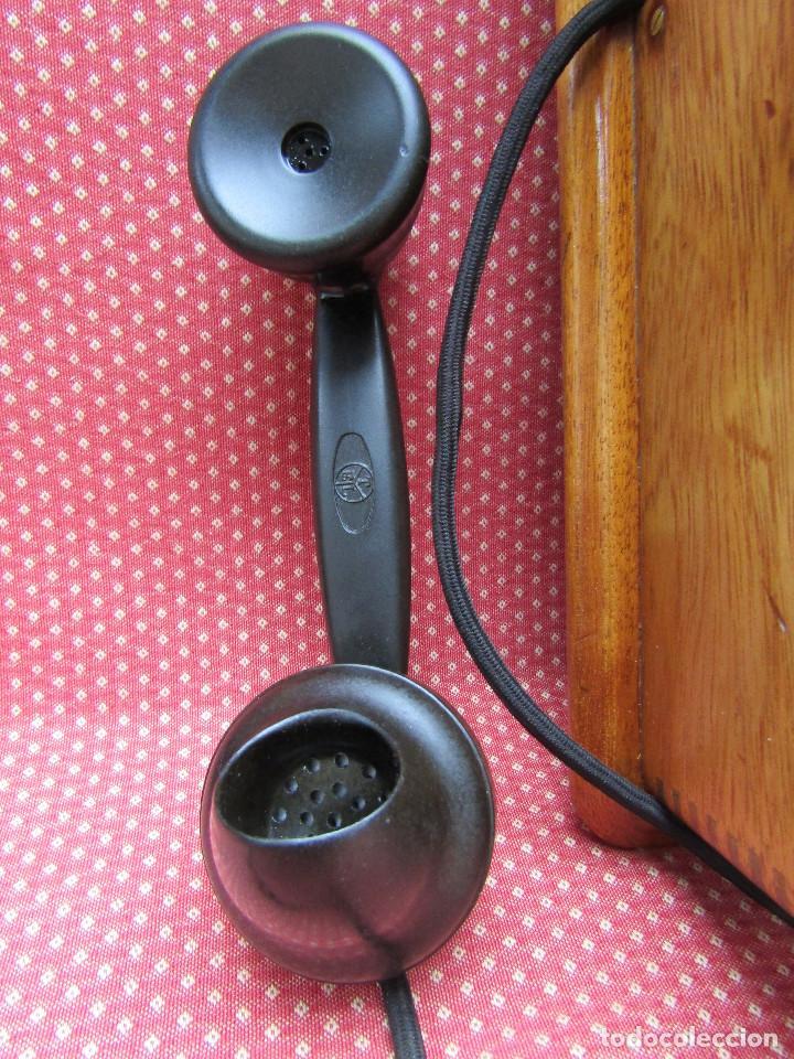 Teléfonos: ANTIGUO TELEFONO DE PARED DE GRAN TAMAÑO DE ORIGEN INGLÉS, MEDIADOS DEL SIGLO XX. - Foto 8 - 112719871
