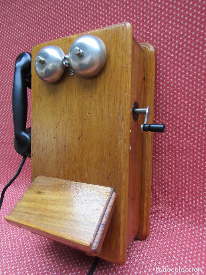 Teléfonos: ANTIGUO TELEFONO DE PARED DE GRAN TAMAÑO DE ORIGEN INGLÉS, MEDIADOS DEL SIGLO XX. - Foto 9 - 112719871