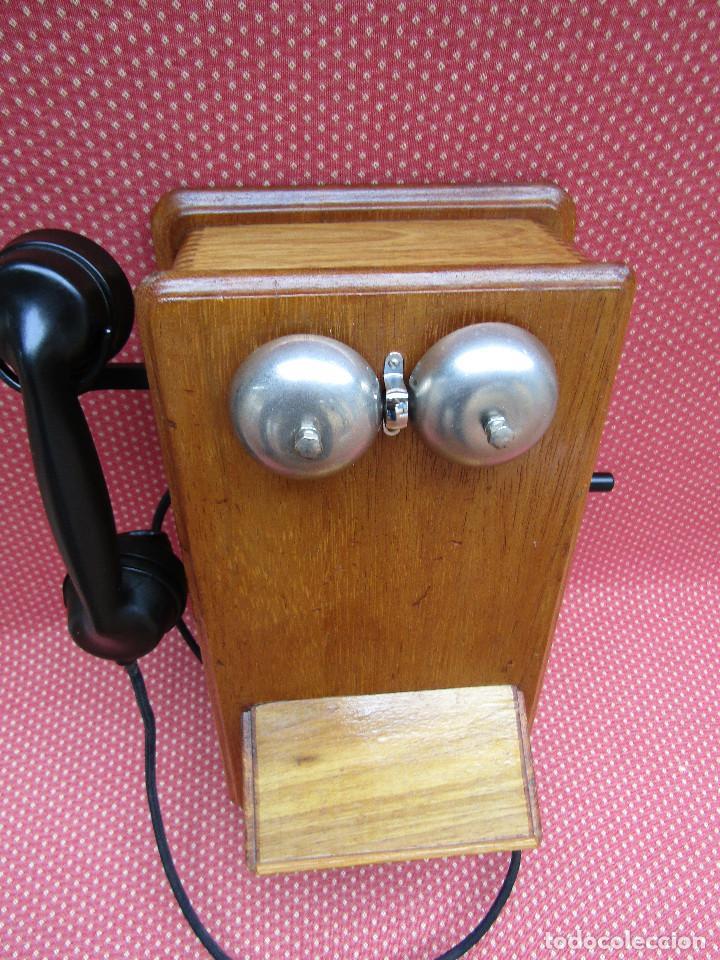 Teléfonos: ANTIGUO TELEFONO DE PARED DE GRAN TAMAÑO DE ORIGEN INGLÉS, MEDIADOS DEL SIGLO XX. - Foto 10 - 112719871