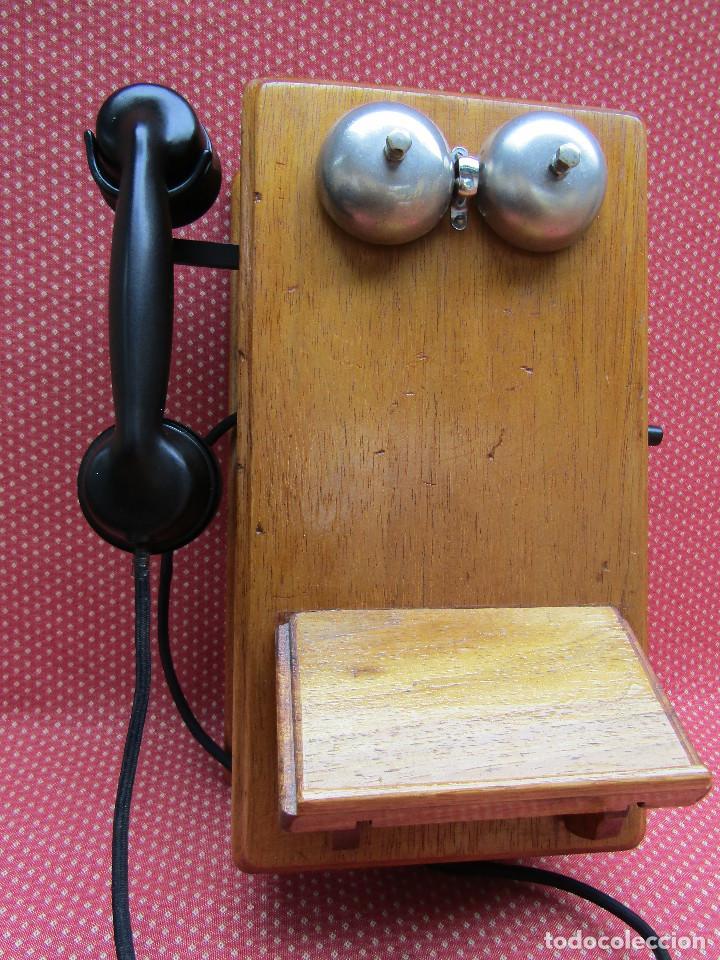 Teléfonos: ANTIGUO TELEFONO DE PARED DE GRAN TAMAÑO DE ORIGEN INGLÉS, MEDIADOS DEL SIGLO XX. - Foto 11 - 112719871