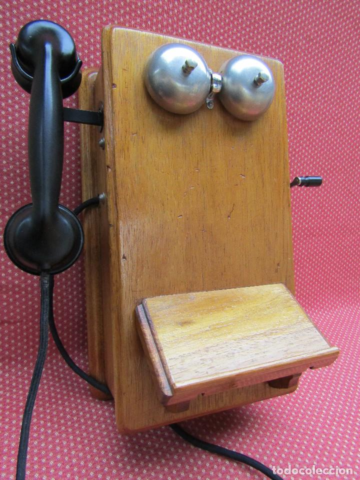 Teléfonos: ANTIGUO TELEFONO DE PARED DE GRAN TAMAÑO DE ORIGEN INGLÉS, MEDIADOS DEL SIGLO XX. - Foto 12 - 112719871
