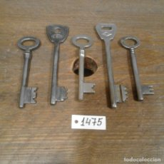 Antigüedades: LOTE DE LLAVES ANTIGUAS. Lote 112723923