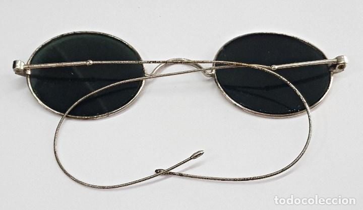 Antigüedades: Gafas de sol antiguas redonda. con cristales negros. - Foto 3 - 112736371