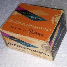 Antigüedades: VISOR DIAPOSITIVAS SAWYER'S (SAWYERS) 3-DIMENSION VIDEO-MASTER; CON CAJA ORIGINAL Y MUCHAS PELICULAS. Lote 112753983