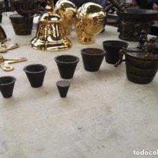 Antigüedades: PONDERAL MEDIANO DE BRONCE. Lote 112829431