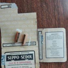 Supositorios Sedol en caja original.