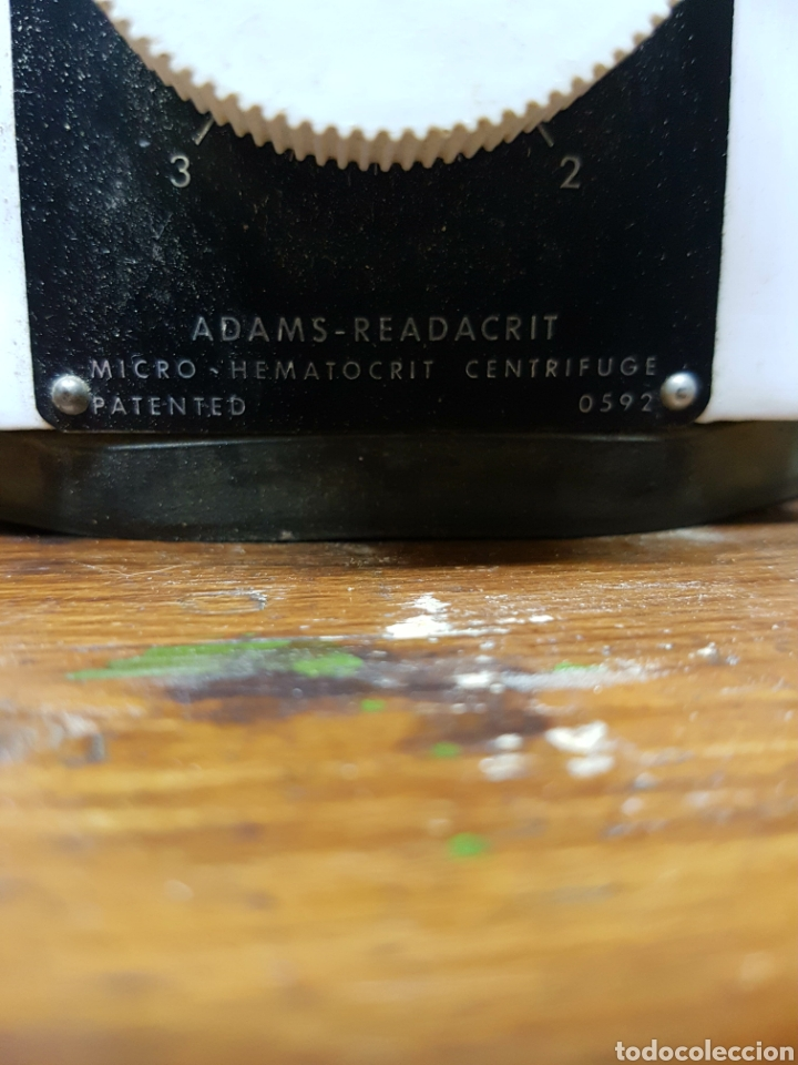 Antigüedades: Clay Adams Readacrit Micro-Hematocrit Centrifuge, ANTIGUA CENTRIFUGADORA DE LABORATORIO. - Foto 5 - 112871064