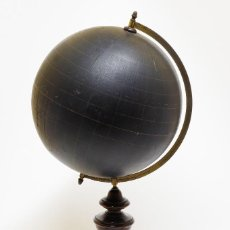 Antigüedades: 1870C GLOBO TERRAQUEO MUDO BOLA DEL MUNDO ESFERA TERRESTRE FELKL 25CM.. Lote 112901751