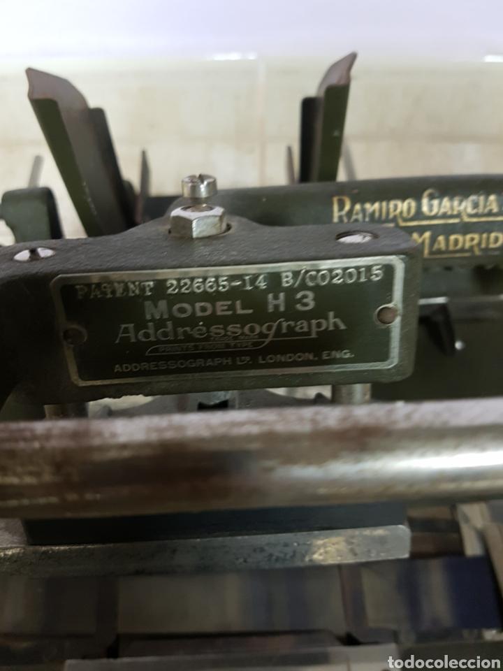 Antigüedades: Addressograph Model H3, London. Maquina para etiquetadora - Foto 2 - 112933362
