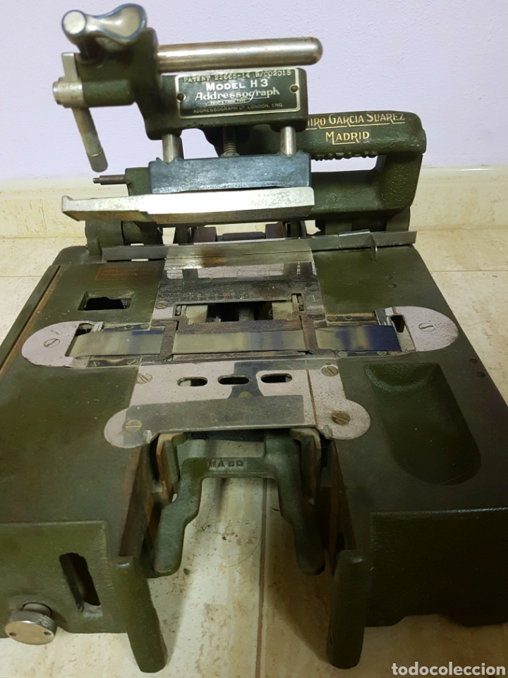 Antigüedades: Addressograph Model H3, London. Maquina para etiquetadora - Foto 5 - 112933362