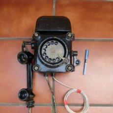 Teléfonos: ANTIGUO TELÉFONO ANTIDEFLAGRANTE, MUY UTILIZADO EN LAS MINAS, MINERO Nº 1. Lote 112987031