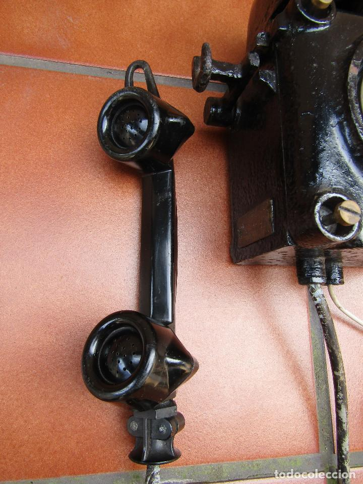Teléfonos: ANTIGUO TELÉFONO ANTIDEFLAGRANTE, MUY UTILIZADO EN LAS MINAS, MINERO nº 1 - Foto 2 - 112987031
