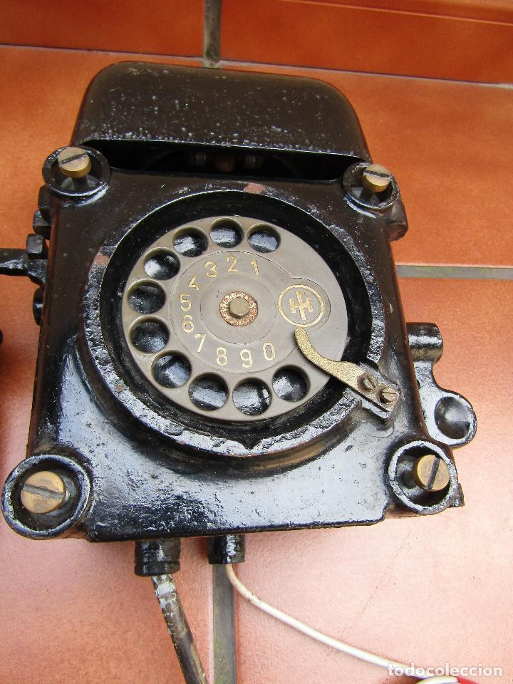 Teléfonos: ANTIGUO TELÉFONO ANTIDEFLAGRANTE, MUY UTILIZADO EN LAS MINAS, MINERO nº 1 - Foto 3 - 112987031