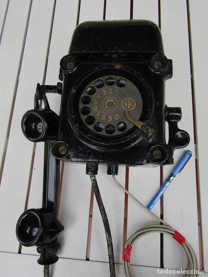 Teléfonos: ANTIGUO TELÉFONO ANTIDEFLAGRANTE, MUY UTILIZADO EN LAS MINAS, MINERO nº 1 - Foto 14 - 112987031