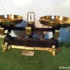 Antigüedades: EJEMPLAR BALANZA CON FUERZA 5 KG DE 1926 CON 2 PLATOS DE LATON (BM 04). Lote 113033883