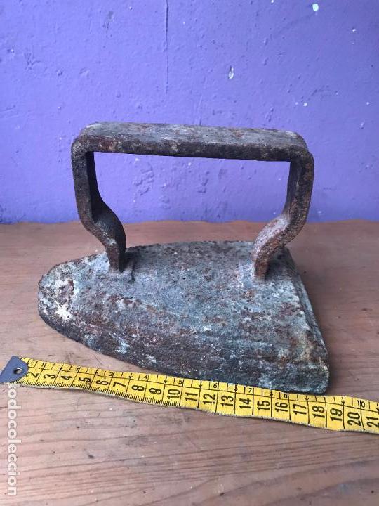Antigüedades: Antigua plancha de gran tamaño - Foto 2 - 113117207