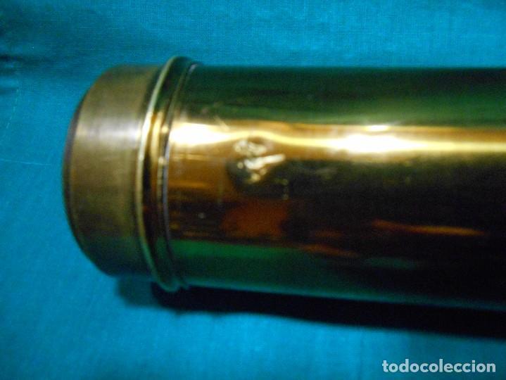 Antigüedades: ANTIGUO CATALEJO DE BRONCE Y MADERA DE CINCO SEGMENTOS CON SU CAJA - FINALES SIGLO XIX - - Foto 9 - 113117747