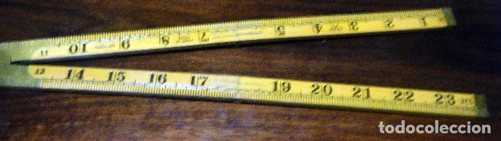 Antigüedades: Antiguo y Curioso metro inglés, centímetros y pulgadas Made in China - Foto 2 - 113204995