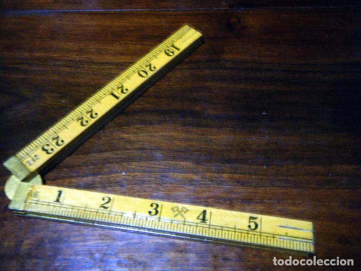 Antigüedades: Antiguo y Curioso metro inglés, centímetros y pulgadas Made in China - Foto 6 - 113204995