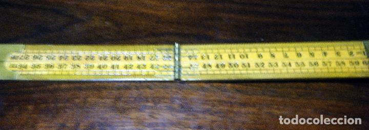 Antigüedades: Antiguo y Curioso metro inglés, centímetros y pulgadas Made in China - Foto 9 - 113204995
