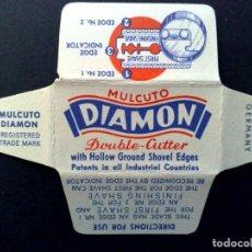 Antigüedades: HOJA DE AFEITAR ANTIGUA-MULCUTO-DIAMON-DOUBLE CUTTER-VINTAGE. Lote 113234979